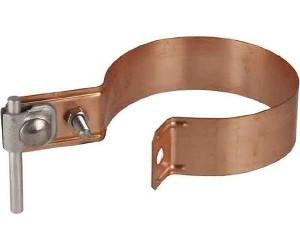 Fallrohrschelle aus Kupfer zum Einschlagen